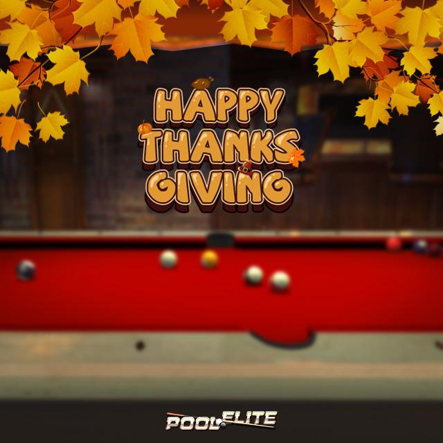 happy thanks giving pool elite