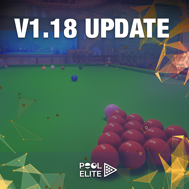 pool elite v1.18 update elo system new cue sticks accessories free billiards pool 8 ball snooker carom online billiards