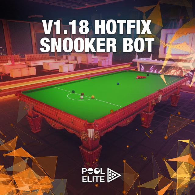 pool elite v1.18 hotfix snooker bot update elo system new cue sticks accessories free billiards pool 8 ball snooker carom online billiards