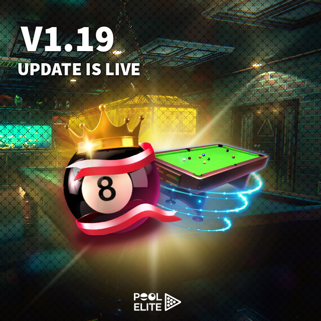 pool elite v1.19 snooker bot update elo system new cue sticks accessories free billiards pool 8 ball snooker carom online billiards